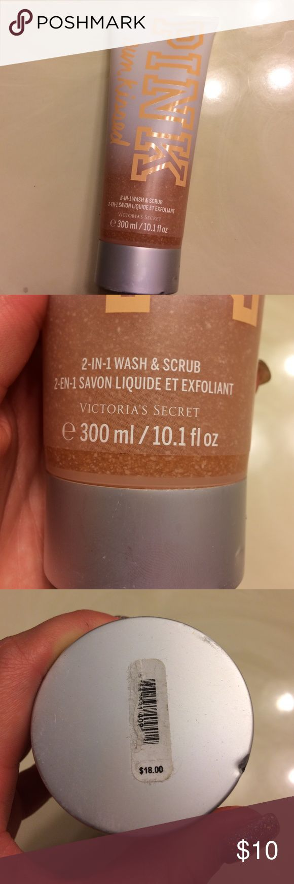 Pink Victoria's Secret sun kissed body scrub Got this as a gift and I've never used it. 10.1 oz of lucious body scrub that will leave you smelling fresh and clean. PINK Victoria's Secret Other