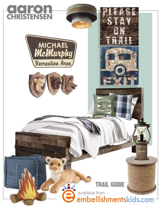 Please Stay On Trail Camping National Park Wall Art Decor Perfect For Boys Rooms With A Boating Fishing Or Cam Camping Theme Bedroom Boy Room Bedroom Themes