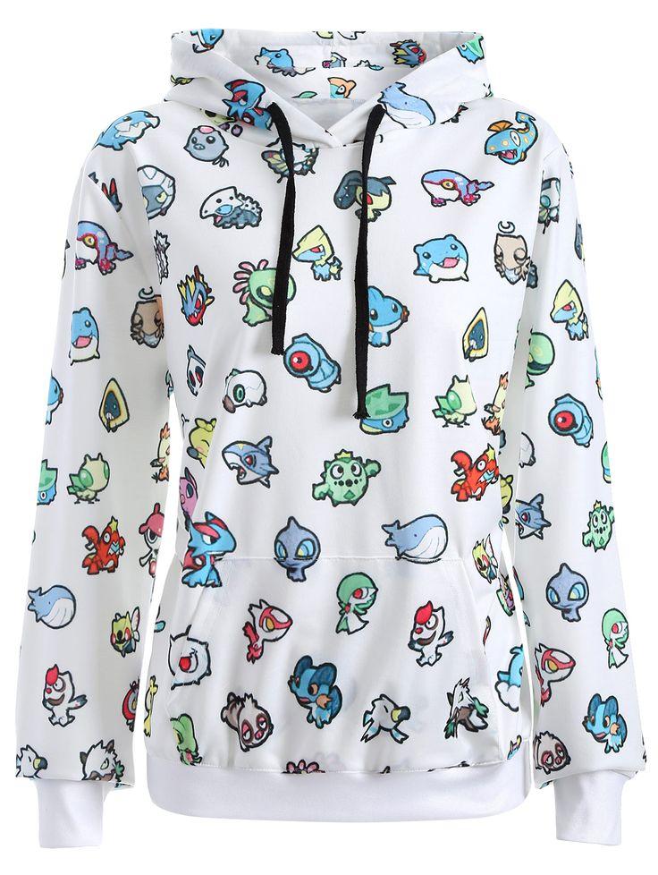 $19.44 Pullover Cartoon 3D Print Hoodie