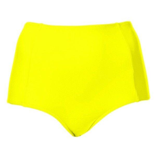 Topshop High Waist Bikini Bottoms (£15) ❤ liked on Polyvore featuring swimwear, bikinis, bikini bottoms, swimsuits, black, high waisted swim suit, retro bathing suits, high rise bikini, retro high waisted bikini and highwaisted swimsuits