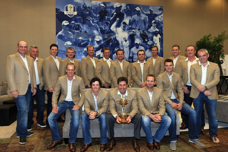 2012 Ryder Cup, Team Europe: breaking every country club dress code.