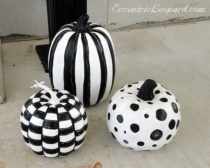 The Eccentric Leopard Black And White Pumpkins How To For The