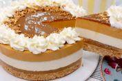Aqui puedes ver un tutorial paso a paso para hacer una irresistible tarta de queso con manzana y dulce de leche. ¡No tengas miedo de hacerlo! Es muy fácil y queda muy rica. Ingredientes Base de galletas: + 180 g galletas María (preferiblemente hojaldradas), + 100g mantequilla sin sal,