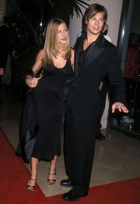 Jennifer Aniston, who reportedly just secret-married Justin Theroux, has a habit of taking on her significant other's style, most notably ditching her laid-back beachy vibes for her new husband's tougher, biker look. Take a look back at the best times she's matched her man, be it Justin, Brad, or Vince.