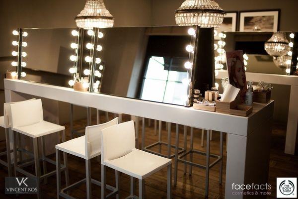 Visagie Make Up Spiegel Met Verlichting Lampen Nieuw