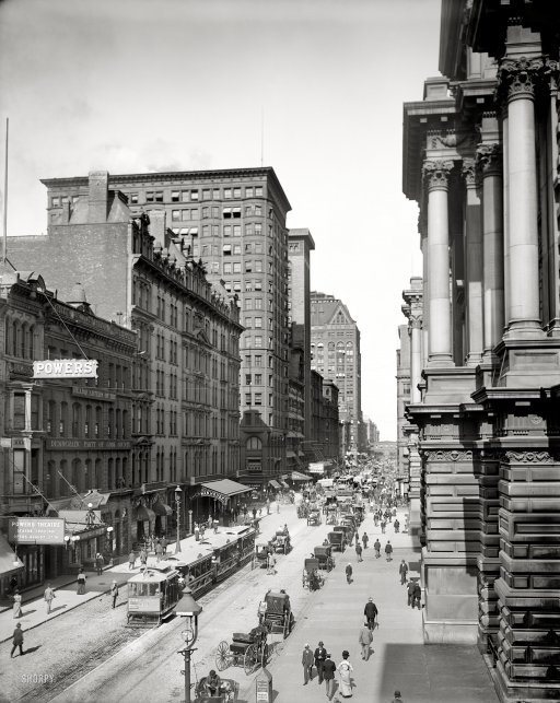 September 1, 1900 - Randolph Street east from LaSalle, Chicago.