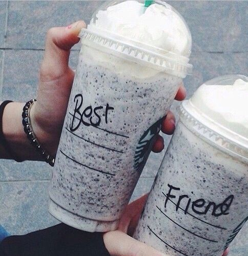 When u are sick of people writing your name on your coffee, and your at starbucks with your partner in crime