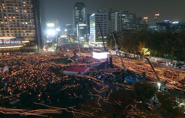 [포토] 박근혜 퇴진 요구 촛불 시위