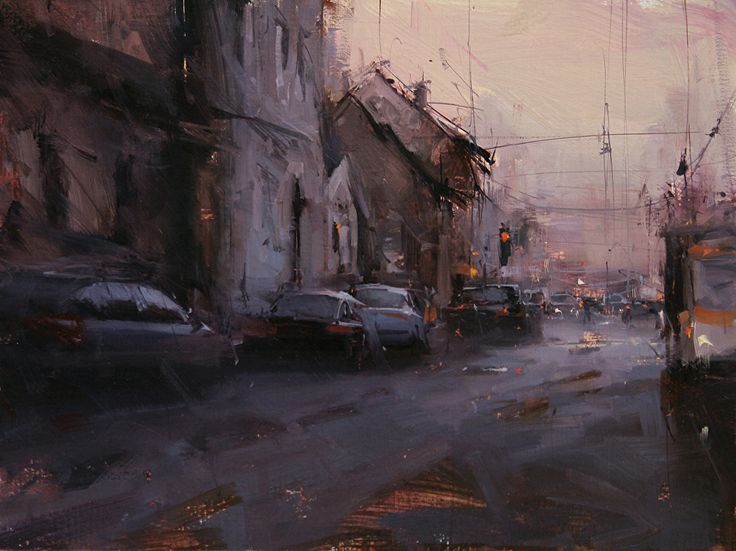 The Urban Flow by Tibor Nagy Oil ~ 12 x 16