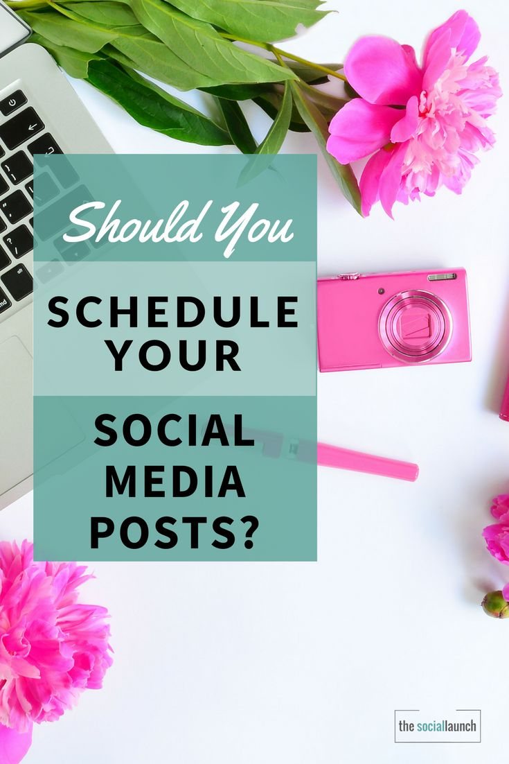 Should You Schedule Your Social Media Posts? via @socialmediatips