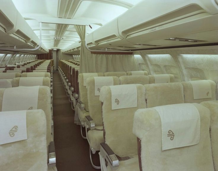 Classic image Air New Zealand Boeing 737-200 cabin - Photograph taken by Mannering and Associates Ltd