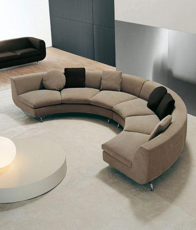 20 Modern Circular Sofa Designs For Living Room Curved Sofa
