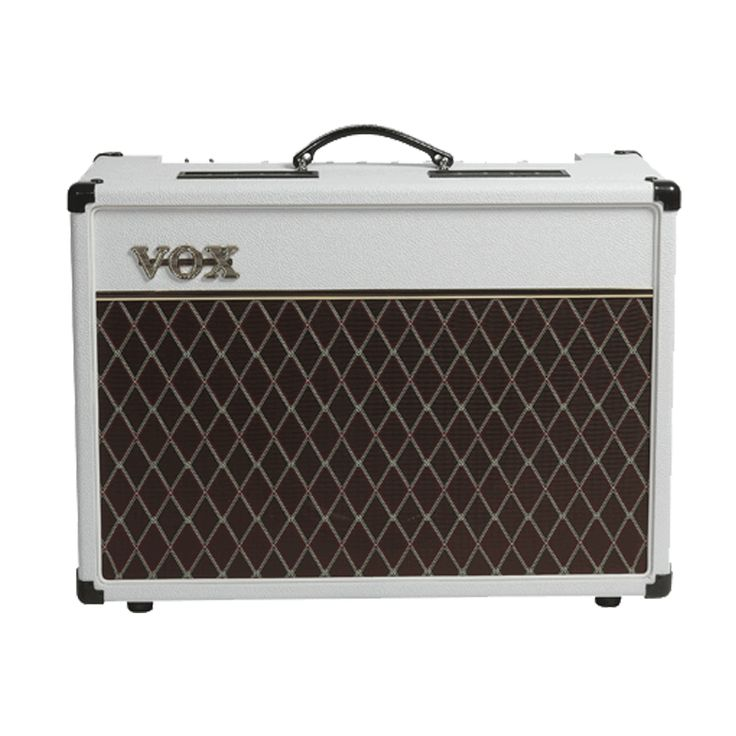Vox AC15 Custom Limited Edition Tube Combo Amp - White Bronco