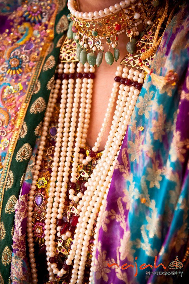 Hyderabadi Jewelry. Pearls, of course! :) #Indian