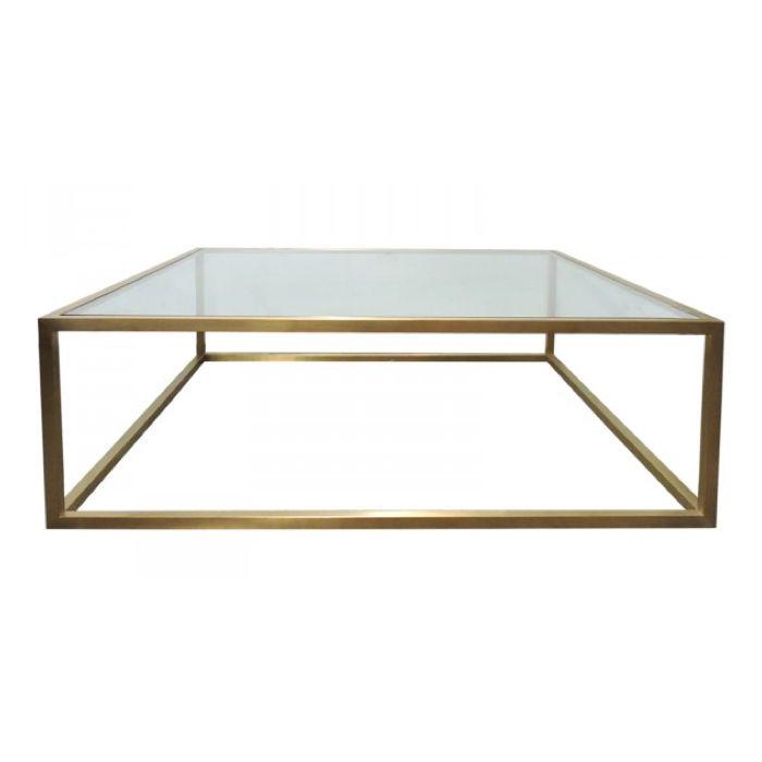 Bogart Brass Coffee Table $1050