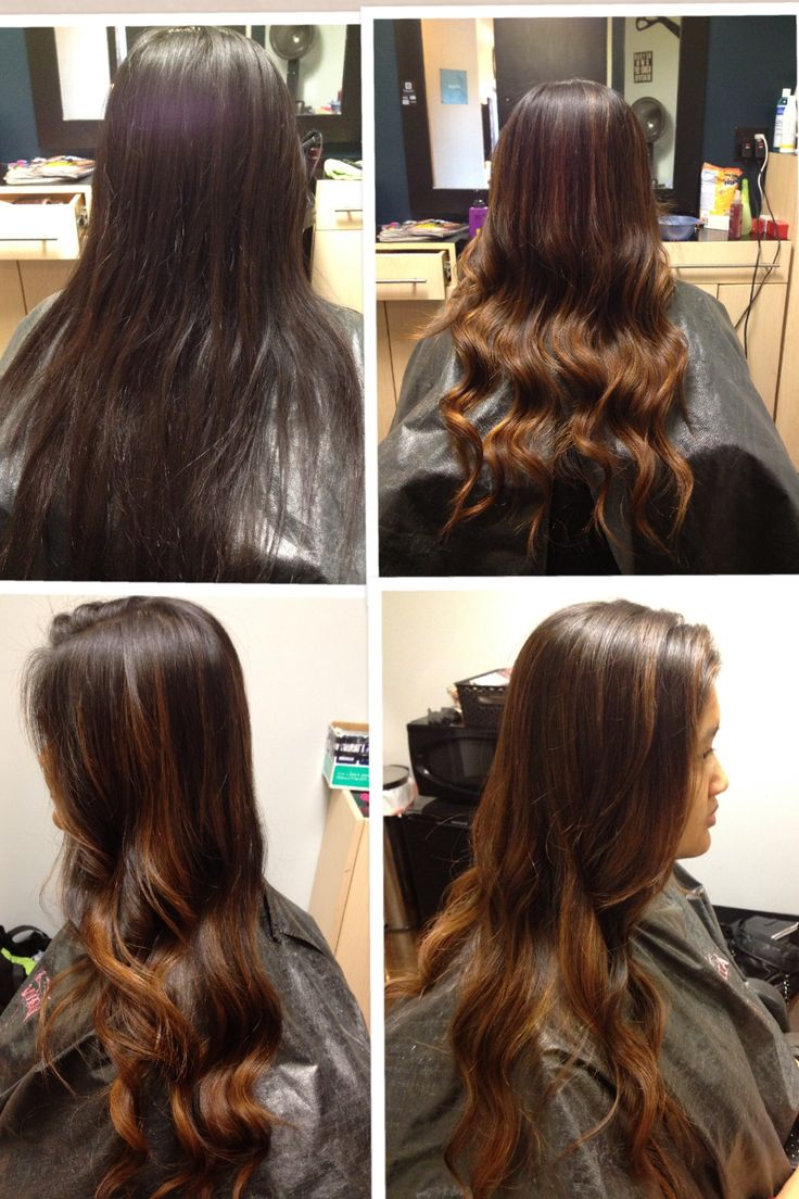 Before Amp After Balayage Highlights My Work Hair