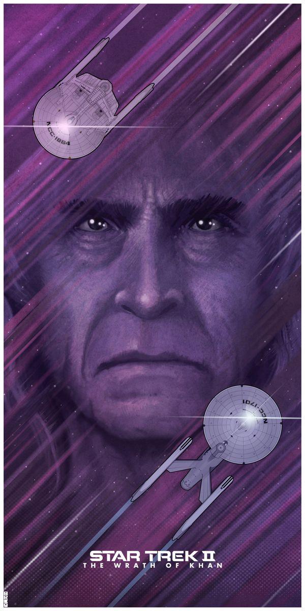 Stunning posters celebrate the original six Star Trek movies