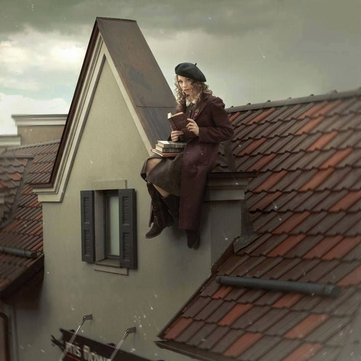 ~read a book from the roof top~