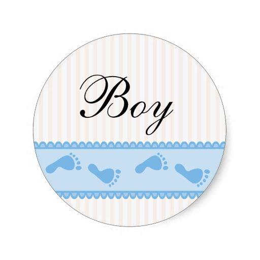 Baby boy blue stickers