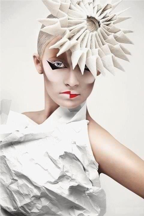 OMG! Amazing! Paper - editorial, avant garde, chic, fashion, #costume #halloween