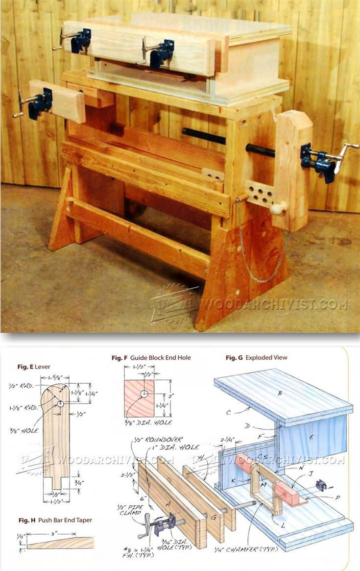 DIY Pipe Clamp Vise - Workshop Solutions Projects, Tips and Tricks | WoodArchivist.com
