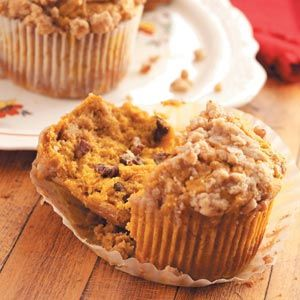 Jumbo Pumpkin Pecan Muffins from Taste of Home -- shared by Mrs. Janice Christofferson of Eagle River, Wisconsin