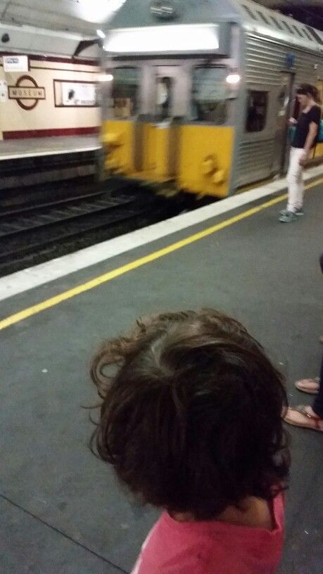 Simple adventures so fun for kids.  Train ride Sydney