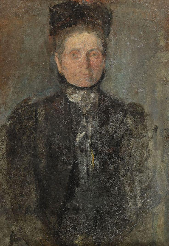 Olga Boznańska (Polish, 1865-1940), Portrait of a woman, c.1900.