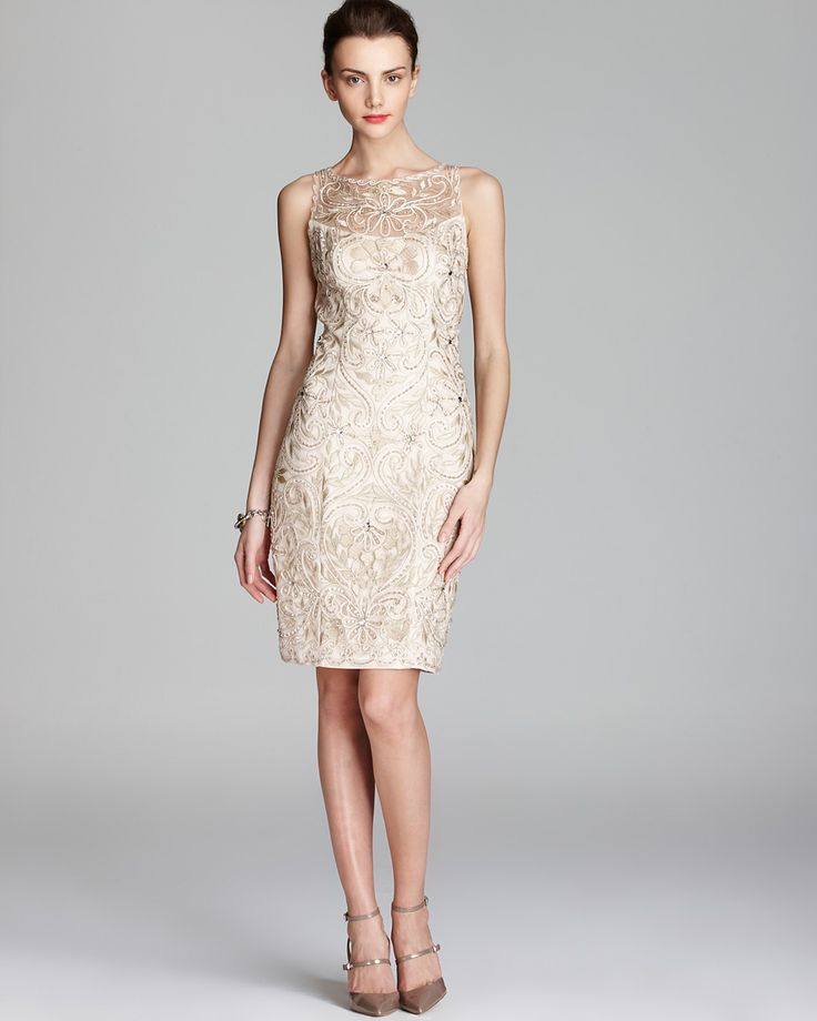 Sue Wong Embroidered Dress Beaded Bloomingdale 39 S Aly Wedding