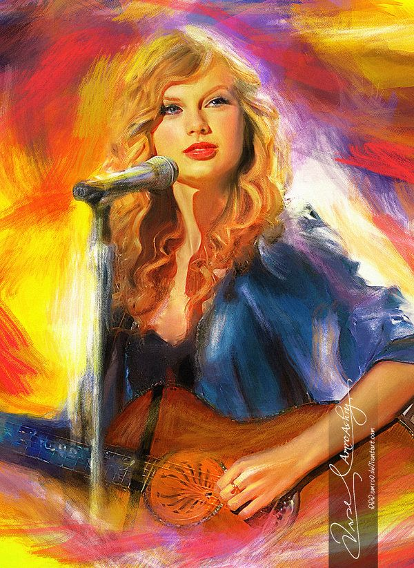 Live the music ~ Taylor Swift 8 ( Commission ) by *Amro0 on deviantART {digital art}