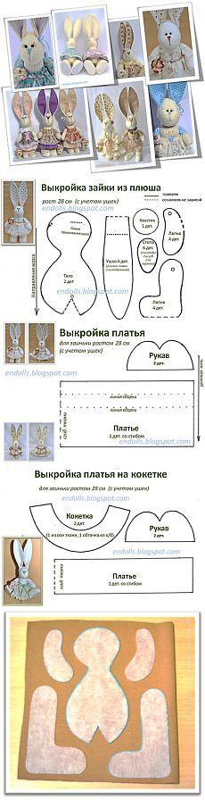 En ik speel met poppen: Patroon en de technologie van tailoring pluche Zainka