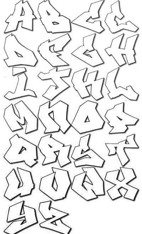 jagged graffiti alphabet