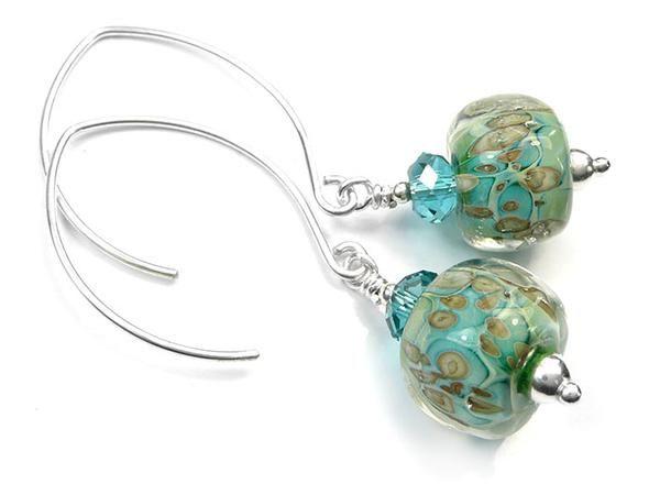 Lampwork Glass Earrings - Aruba