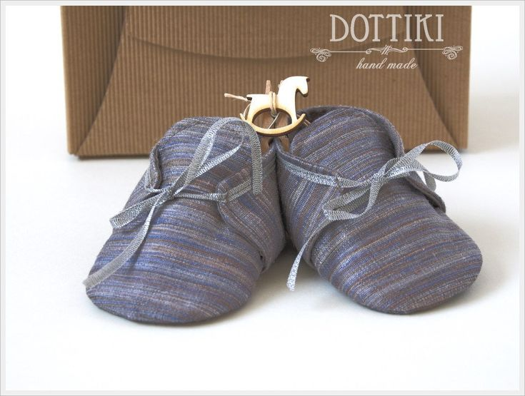 Baby Boy  Shoes, Silk  Booties, Baby Gift, Personalised Shoes, Blue Shoes, by DOTTIKI on Etsy