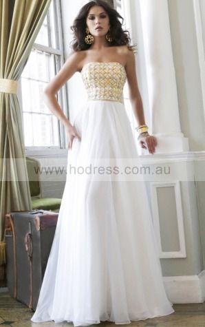 Princess Strapless Natural Sleeveless Floor-length Formal Dresses p140892