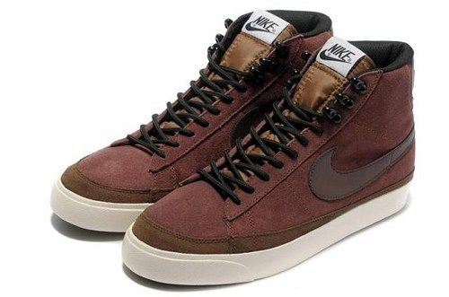 Cheap 371761-221 Nike Blazer MID suede wine black men running shoes