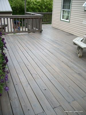 Pewter Behr Semi Transparent Deck Stain