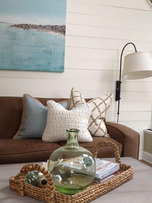 Living room with coastal accents. #livingroom #coastalDecor Lisa Gabrielson Design.