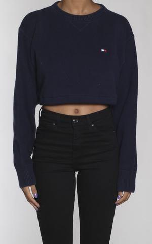 03fba7c3e92fe0 Vintage Tommy Hilfiger Crop Knit Sweater