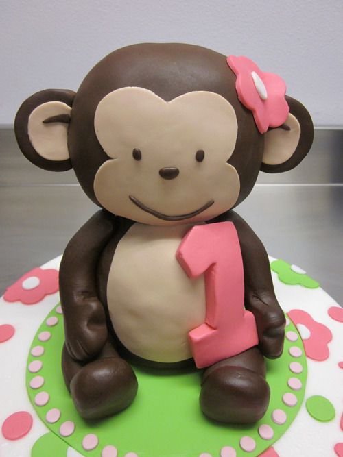 girl monkey birthday cake - Google Search