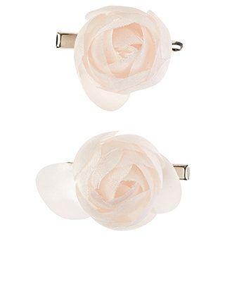 2 x Carrie Cream Flower Hair Clips | Cream | Accessorize