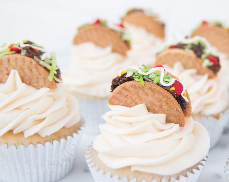 Taco Cupcakes for Cinco de Mayo