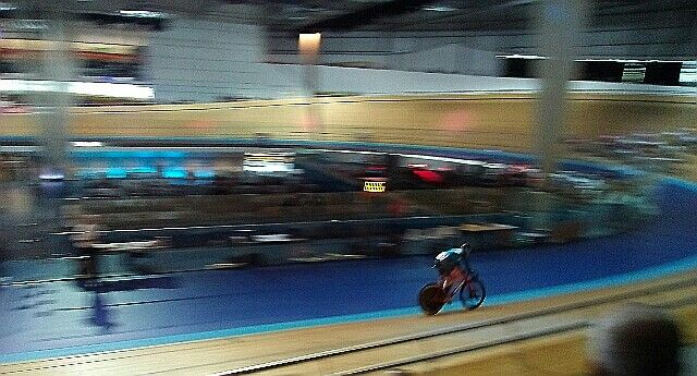 HSBC GB Omnium Women's Championships Derby Arena Velodrone...winner Katie Archibald MBE... great seats great day's racing....my phone pic *A*