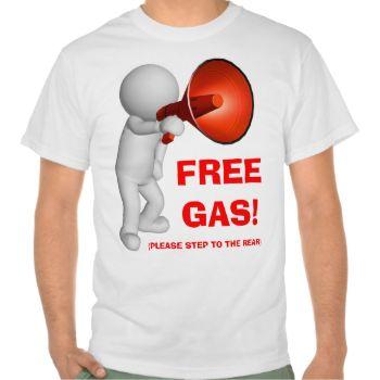 FREE GAS: 3D FIGURE T-SHIRT