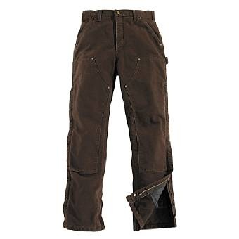 Carhartt Double Front Sandstone Canvas Pants - Insulated - For the man who has to work outside in the cold!