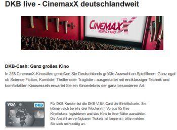 Gratis-Kino: DKB-Kunden schauen am 25.10.2016 im Cinemaxx für 0 Euro https://www.discountfan.de/artikel/c_gratis-angebot/gratis-kino-dkb-kunden-oktober-2016.php Wer ein Girokonto bei der DKB hat, kann in drei Wochen einen Kinofilm nach Wahl inklusive Begleitperson zum Nulltarif genießen: Die Registrierung startet am 17. Oktober 2016. Gratis-Kino: DKB-Kunden schauen am 25.10.2016 im Cinemaxx für 0 Euro (Bild: DKB.de) Um die Gratis-Kino-Tickets der DKB zu ... #Girokonto,