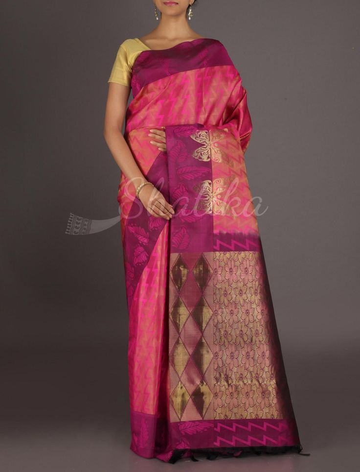 Veda Flight Of Golden Butterflies #ArniSilkSaree
