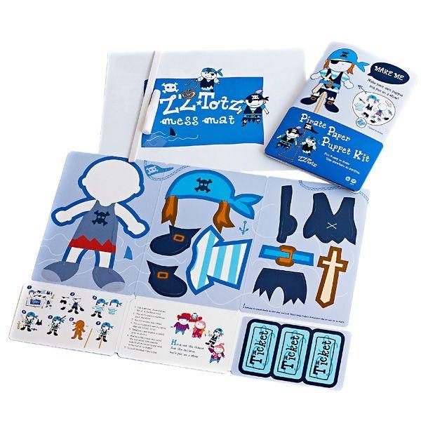Pirate Paper Puppet Kit - ZZ Totz