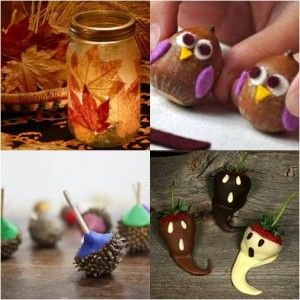 Fall craft ideas - I want to make the leaf jar!