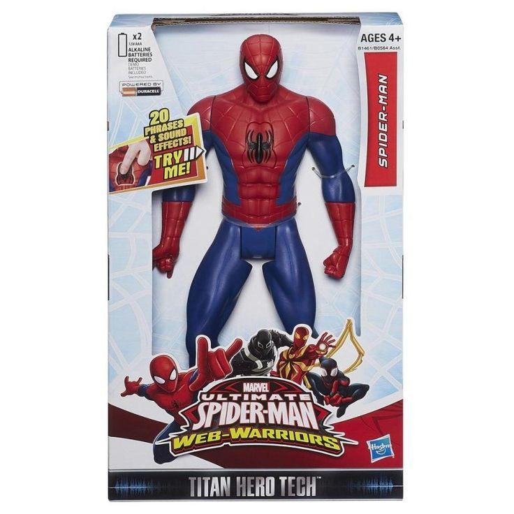 Juguete SPIDERMAN TITAN FIGURA ELECTRONICA de Hasbro Precio 20,33€ en IguMagazine #juguetesbaratos